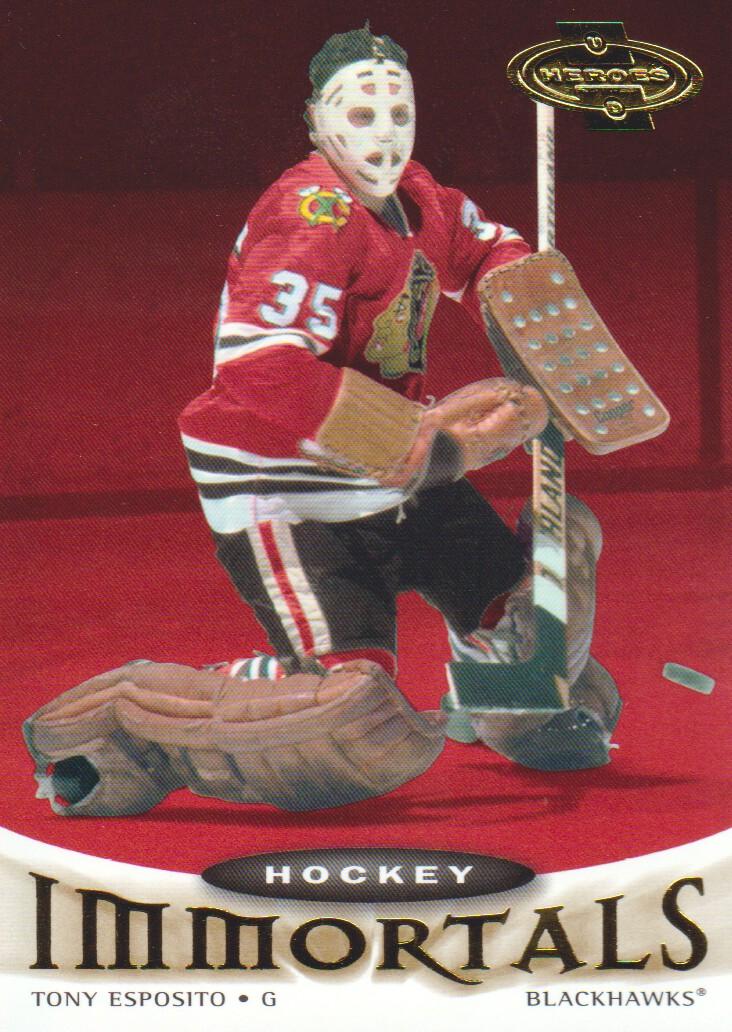 2000-01 Upper Deck Heroes #124 Tony Esposito