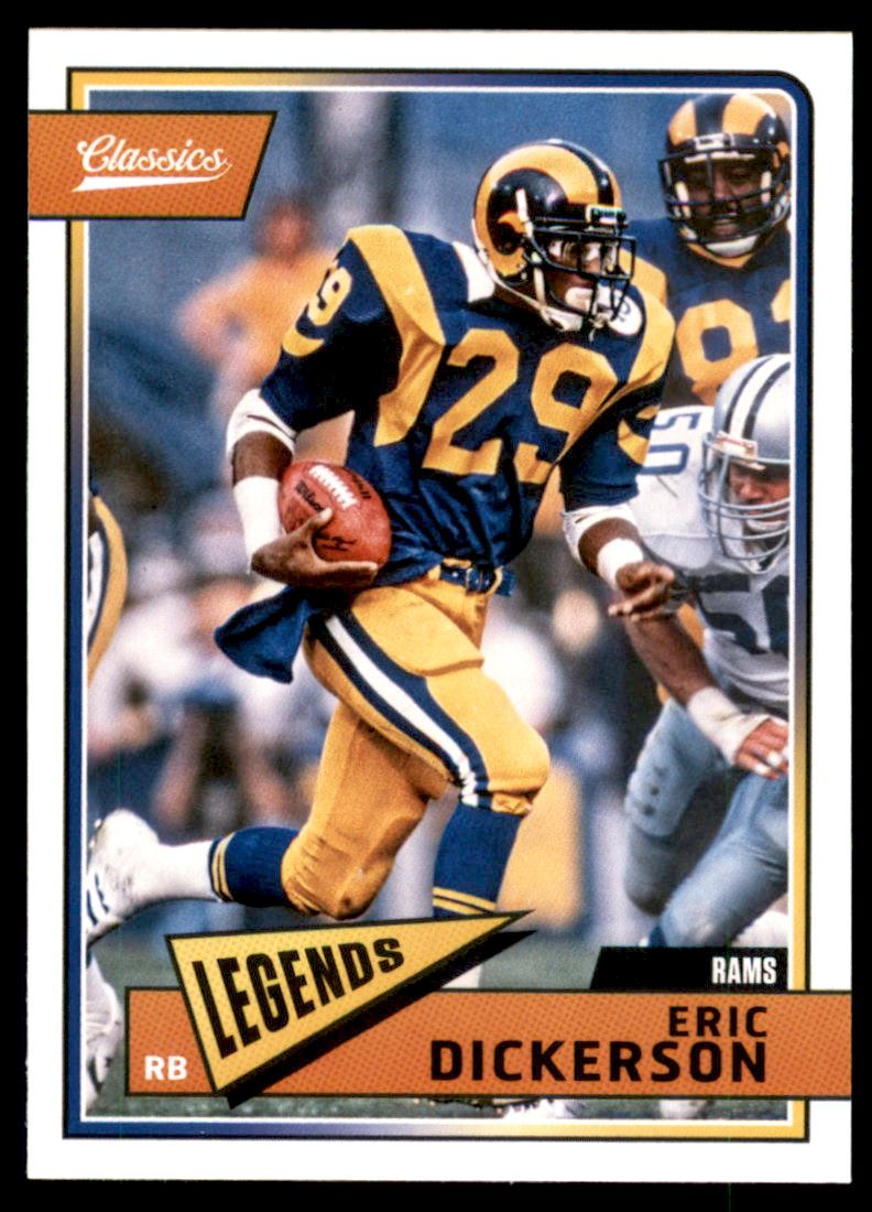 2018 Classics Los Angeles Rams Football Card  102 Eric Dickerson  84bc06e92