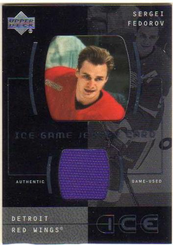 2000-01 Upper Deck Ice Game Jerseys #JCSF Sergei Fedorov