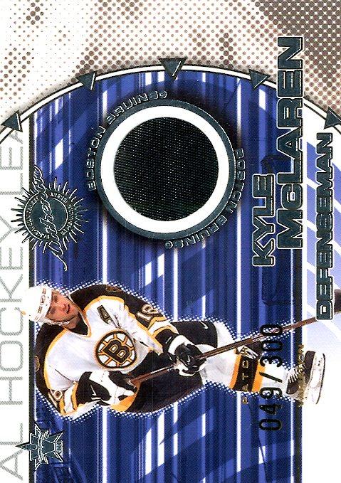 2000-01 Vanguard Dual Game-Worn Patches #14 Kyle McLaren/Don Sweeney/300