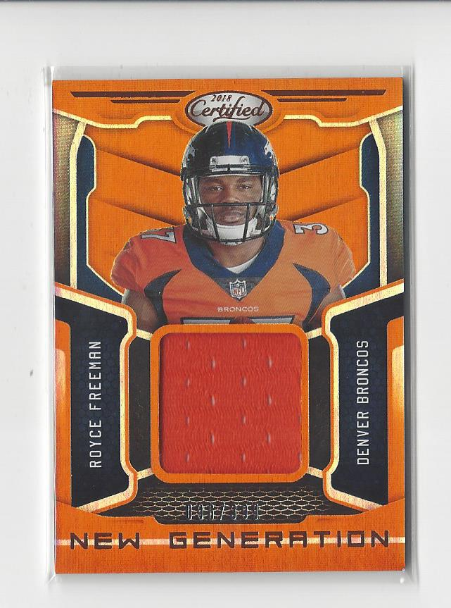 official photos 20319 f55cf Details about 2018 Certified New Generation Orange #19 Royce Freeman RC  JERSEY Broncos /399
