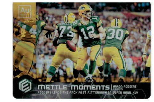 9158aa405 2018 Panini Elements Mettle Moments Gold  9 Aaron Rodgers