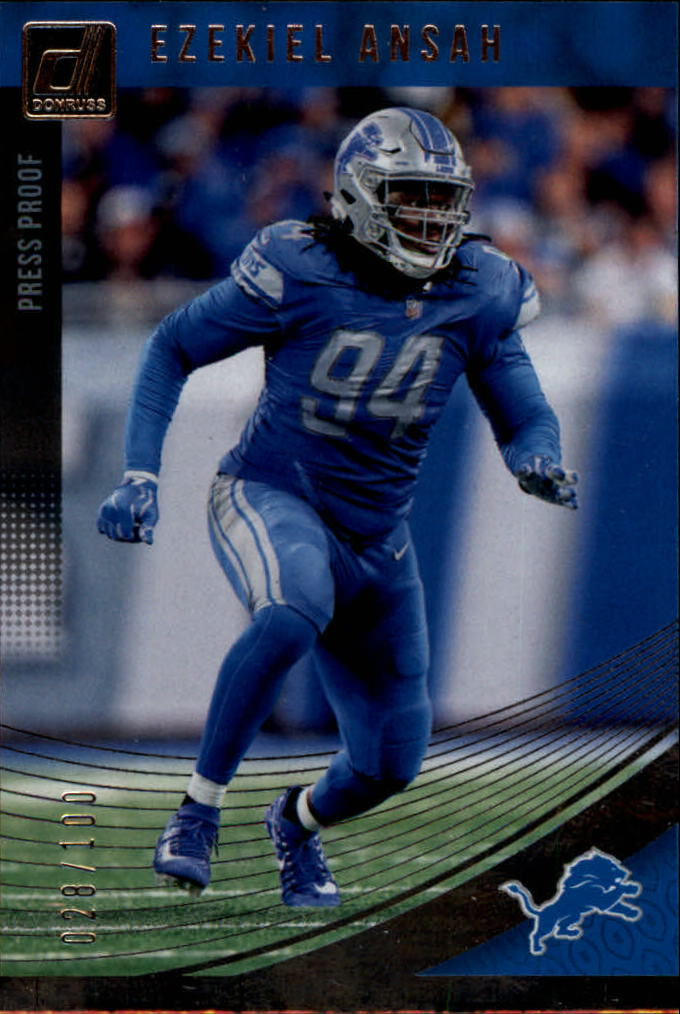 f488137d6 2018 Donruss Press Proof Silver  96 Ezekiel Ansah