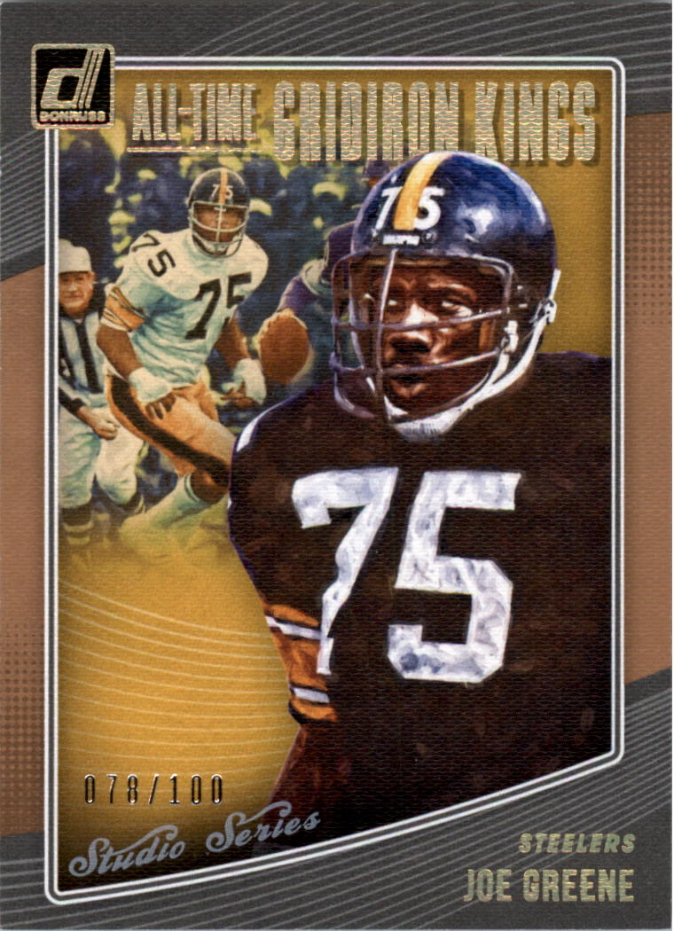 0fb271e19 2018 Donruss All Time Gridiron Kings Studio Series  39 Joe Greene