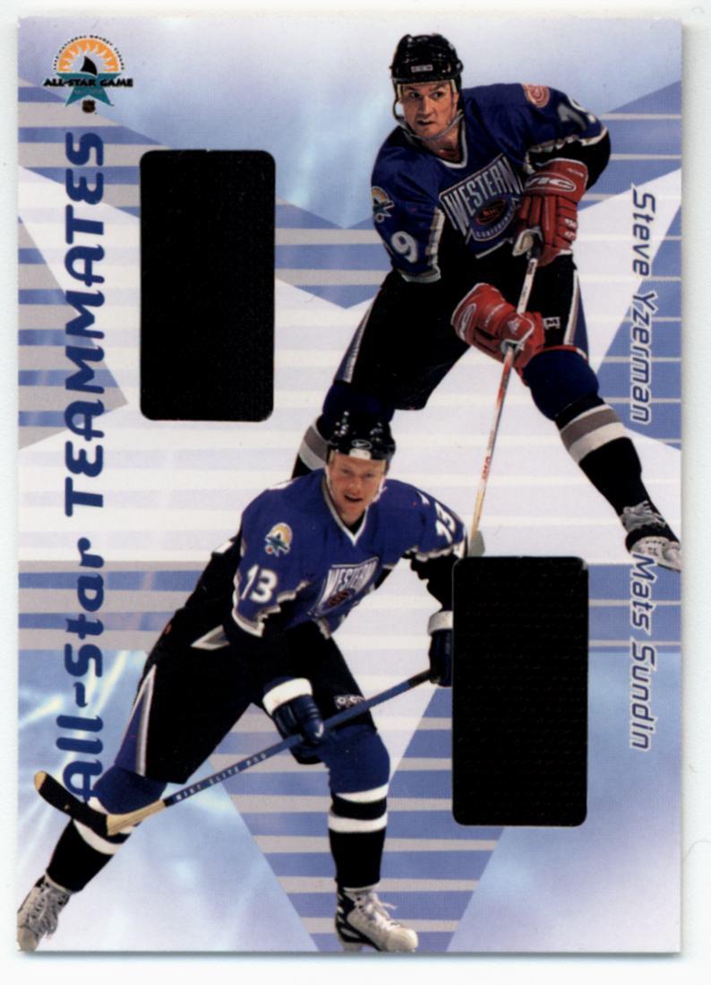 2001-02 BAP Memorabilia All-Star Teammates #AST43 Steve Yzerman/Mats Sundin