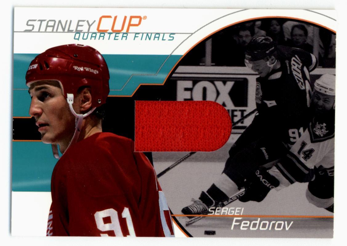 2001-02 BAP Memorabilia Stanley Cup Playoffs #SC12 Sergei Fedorov/95