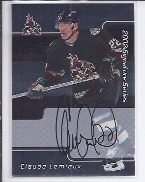 2001-02 BAP Signature Series Autographs #121 Claude Lemieux