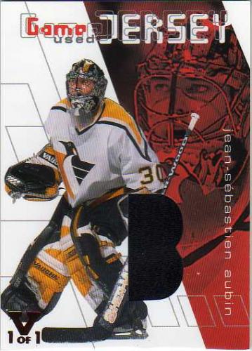 2001-02 Between the Pipes Jerseys #GJ16 J-S Aubin