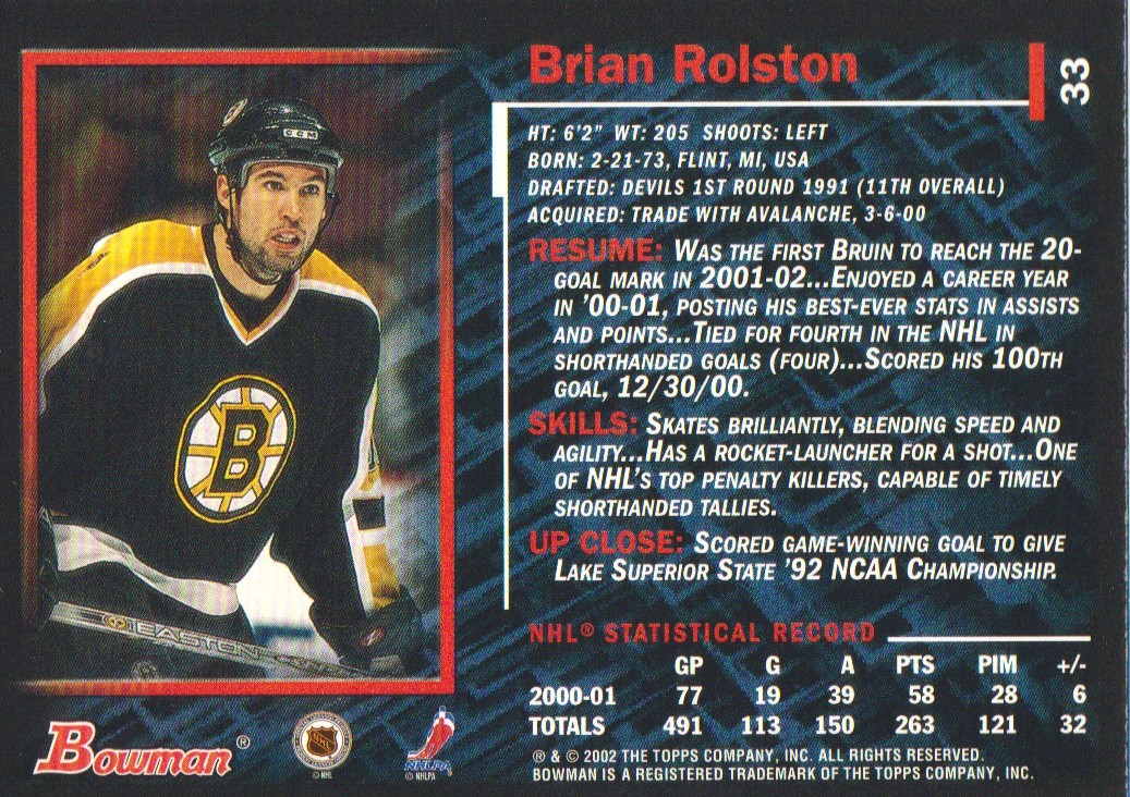 2001-02-Bowman-YoungStars-Ice-Cubed-Parallel-Hockey-Cards-Pick-From-List miniature 31