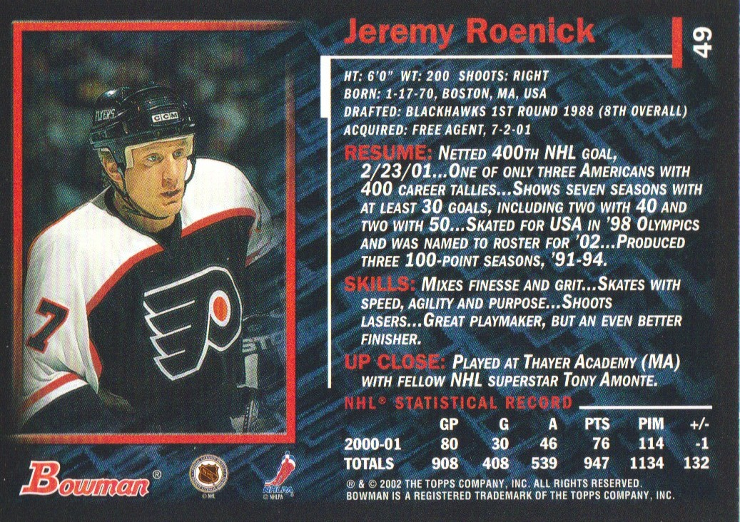 2001-02-Bowman-YoungStars-Ice-Cubed-Parallel-Hockey-Cards-Pick-From-List miniature 45