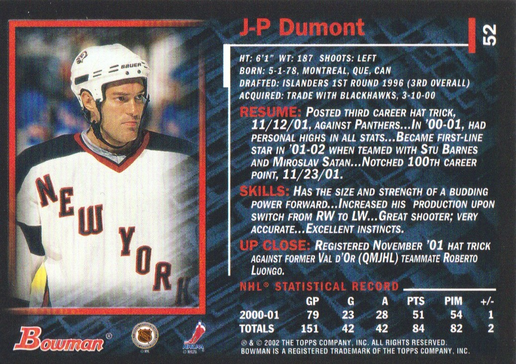 2001-02-Bowman-YoungStars-Ice-Cubed-Parallel-Hockey-Cards-Pick-From-List miniature 51