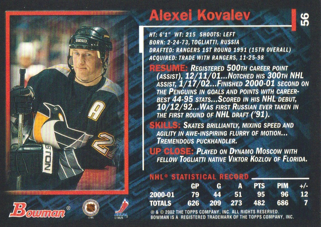 2001-02-Bowman-YoungStars-Ice-Cubed-Parallel-Hockey-Cards-Pick-From-List miniature 59
