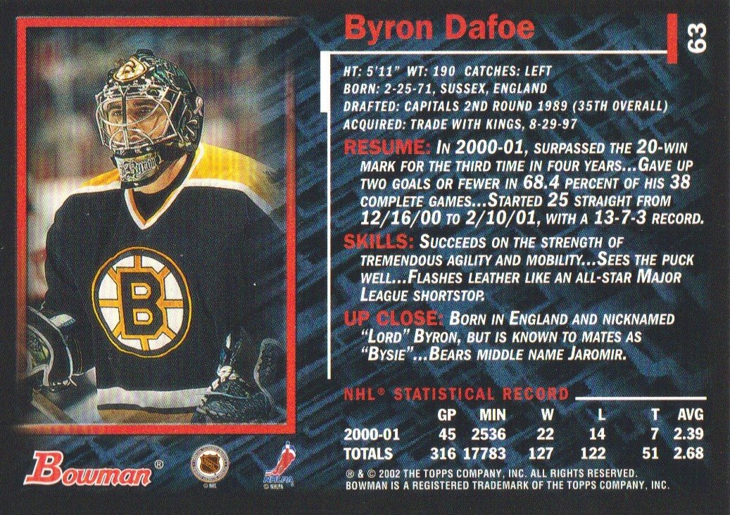 2001-02-Bowman-YoungStars-Ice-Cubed-Parallel-Hockey-Cards-Pick-From-List miniature 65