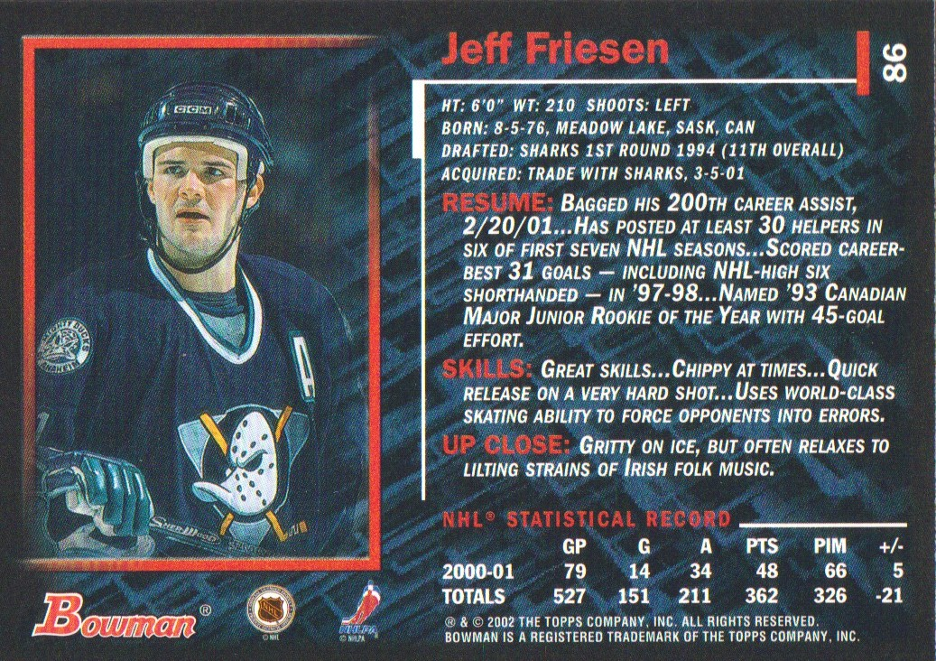 2001-02-Bowman-YoungStars-Ice-Cubed-Parallel-Hockey-Cards-Pick-From-List miniature 73