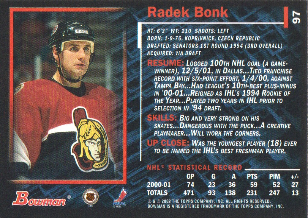 2001-02-Bowman-YoungStars-Ice-Cubed-Parallel-Hockey-Cards-Pick-From-List miniature 85