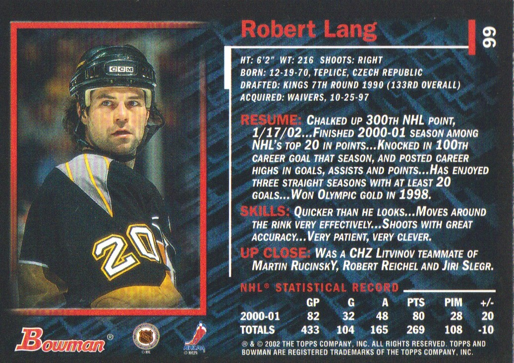 2001-02-Bowman-YoungStars-Ice-Cubed-Parallel-Hockey-Cards-Pick-From-List miniature 89