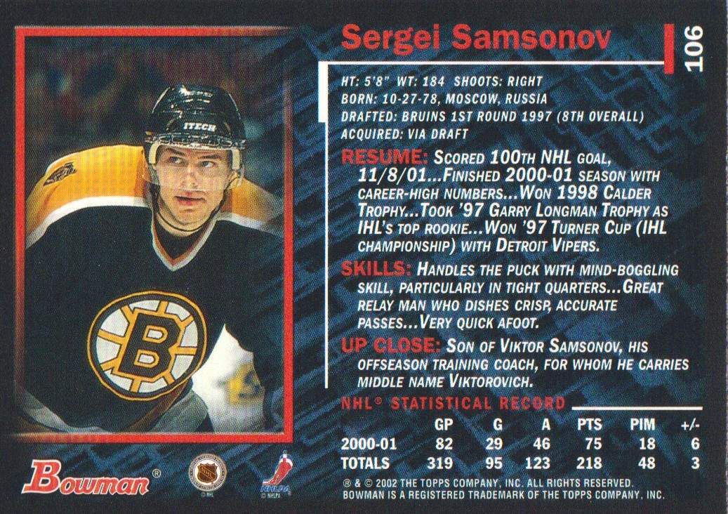2001-02-Bowman-YoungStars-Ice-Cubed-Parallel-Hockey-Cards-Pick-From-List miniature 99