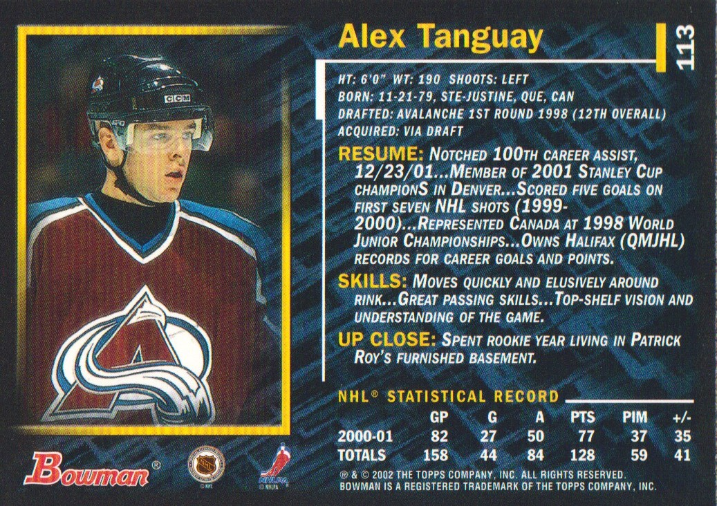 2001-02-Bowman-YoungStars-Ice-Cubed-Parallel-Hockey-Cards-Pick-From-List miniature 107