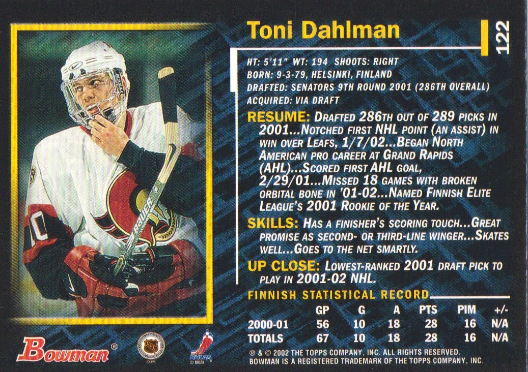 2001-02-Bowman-YoungStars-Ice-Cubed-Parallel-Hockey-Cards-Pick-From-List miniature 119