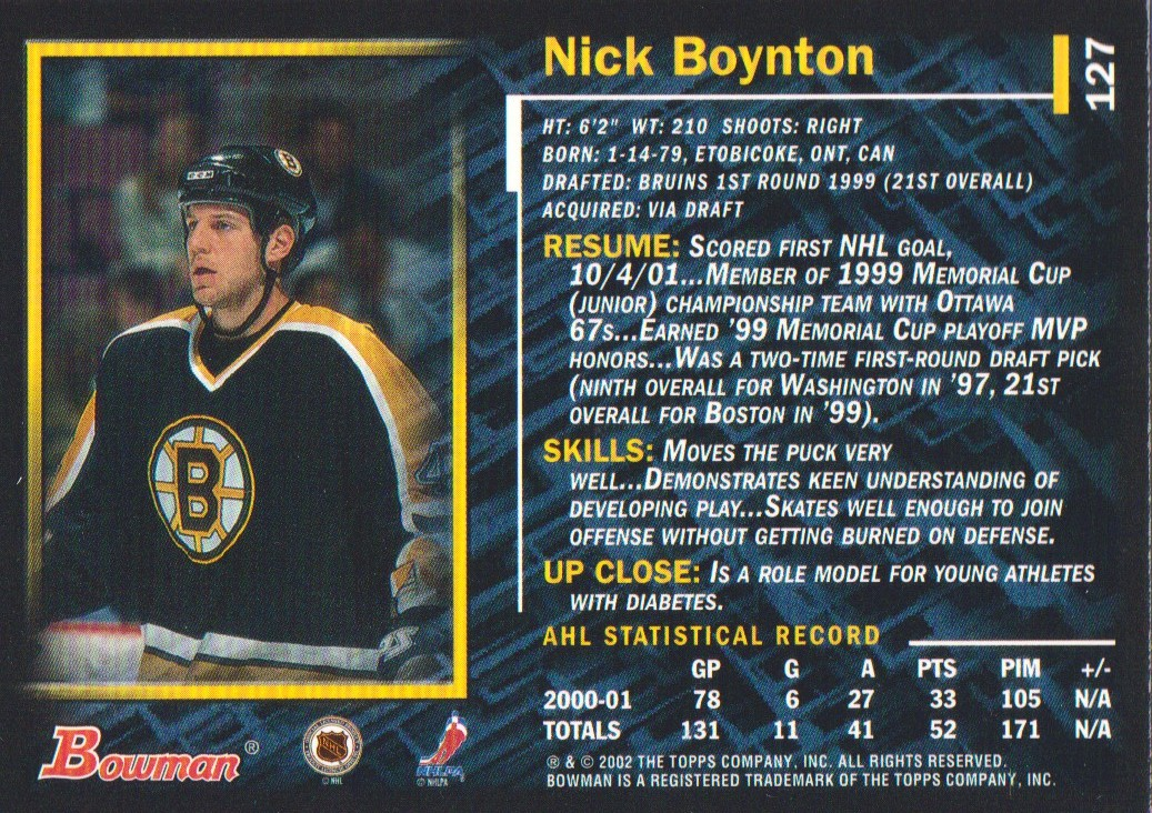 2001-02-Bowman-YoungStars-Ice-Cubed-Parallel-Hockey-Cards-Pick-From-List miniature 125