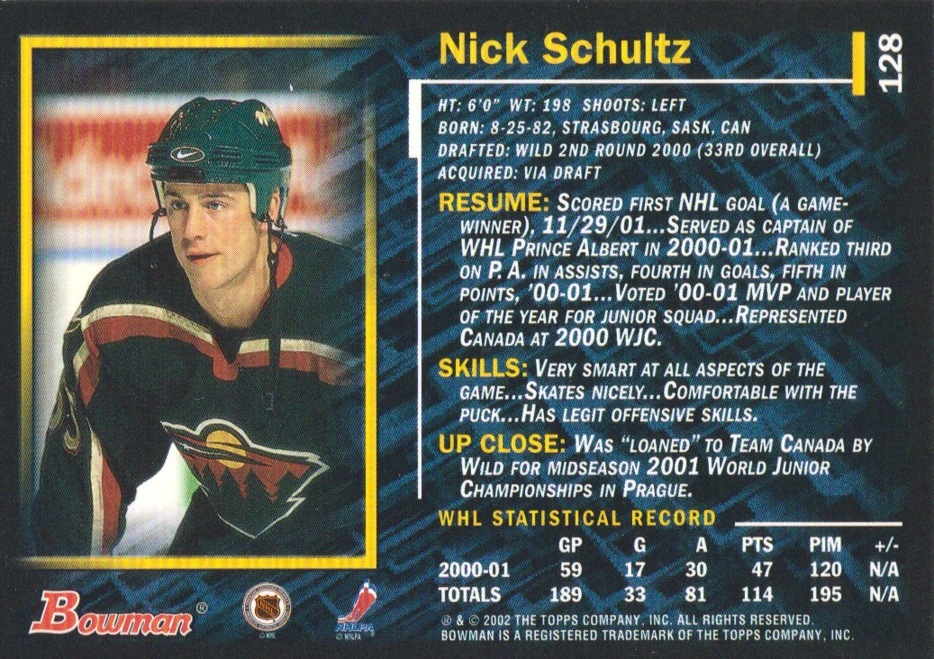 2001-02-Bowman-YoungStars-Ice-Cubed-Parallel-Hockey-Cards-Pick-From-List miniature 127