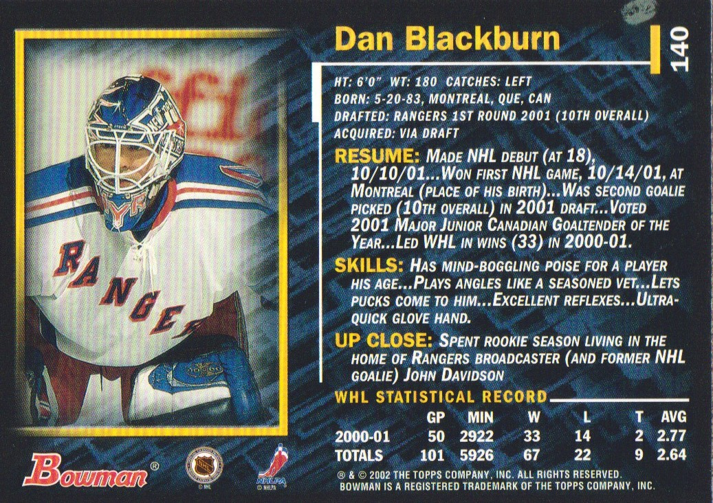 2001-02-Bowman-YoungStars-Ice-Cubed-Parallel-Hockey-Cards-Pick-From-List miniature 135