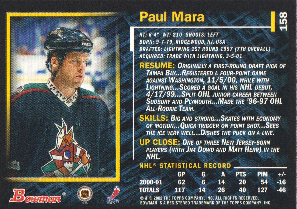 2001-02-Bowman-YoungStars-Ice-Cubed-Parallel-Hockey-Cards-Pick-From-List miniature 145