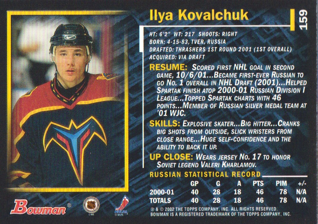 2001-02-Bowman-YoungStars-Ice-Cubed-Parallel-Hockey-Cards-Pick-From-List miniature 147