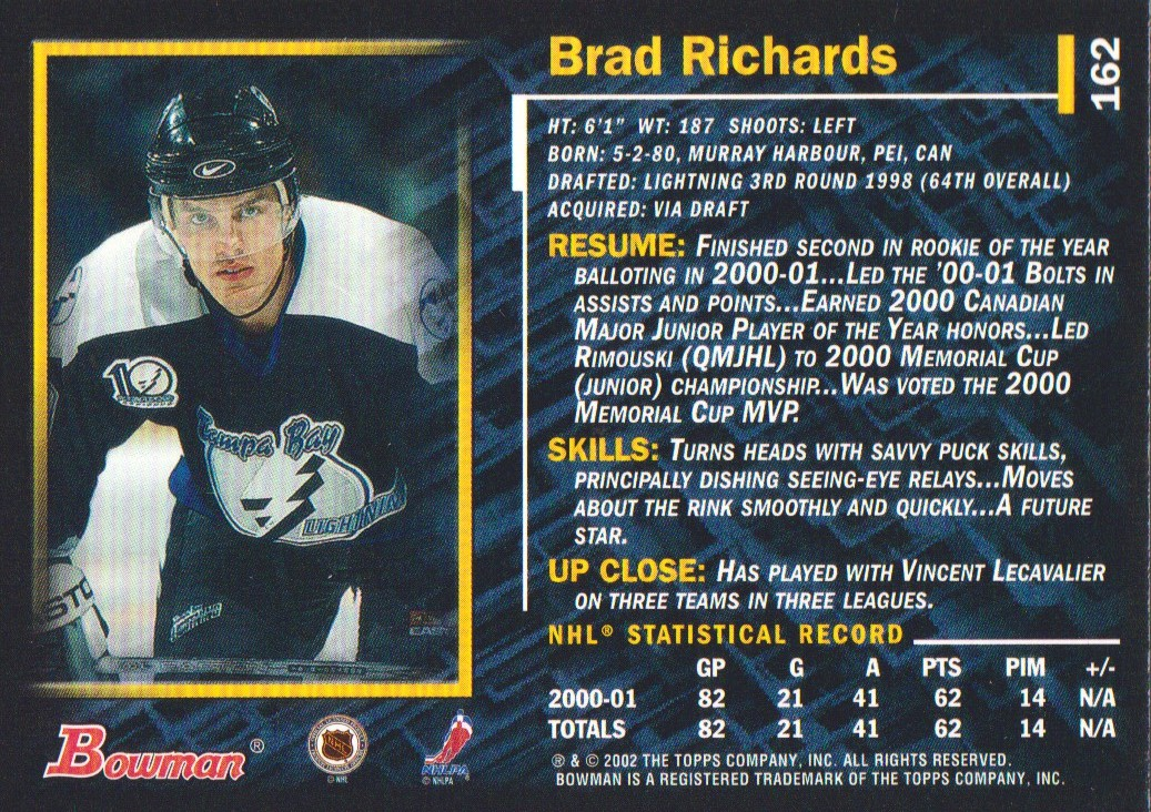 2001-02-Bowman-YoungStars-Ice-Cubed-Parallel-Hockey-Cards-Pick-From-List miniature 153