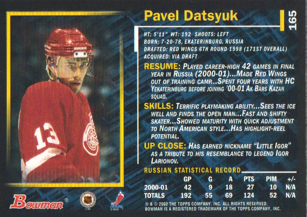 2001-02-Bowman-YoungStars-Ice-Cubed-Parallel-Hockey-Cards-Pick-From-List miniature 157