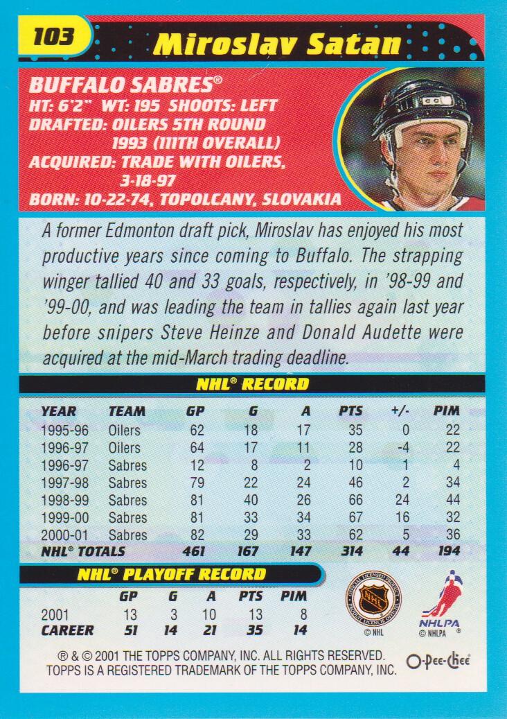2001-02-O-Pee-Chee-OPC-Hockey-Cards-Pick-From-List thumbnail 49