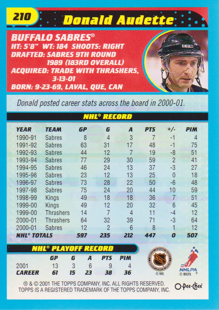 2001-02-O-Pee-Chee-OPC-Hockey-Cards-Pick-From-List thumbnail 111