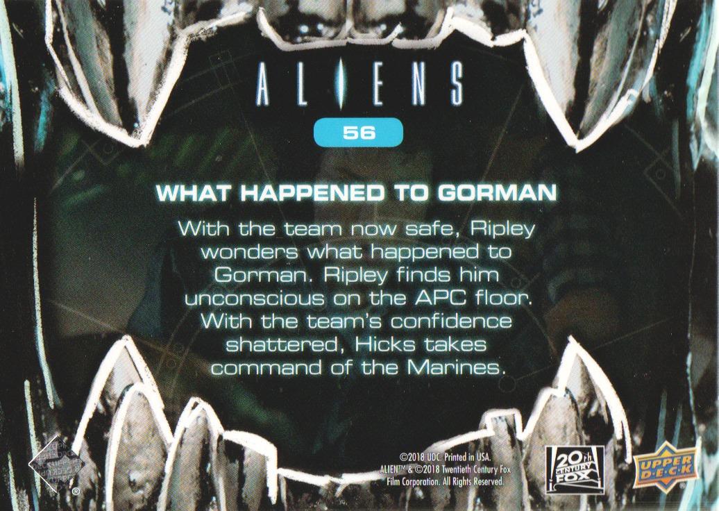 2018 Aliens Alien Blood #56 What Happened to Gorman back image