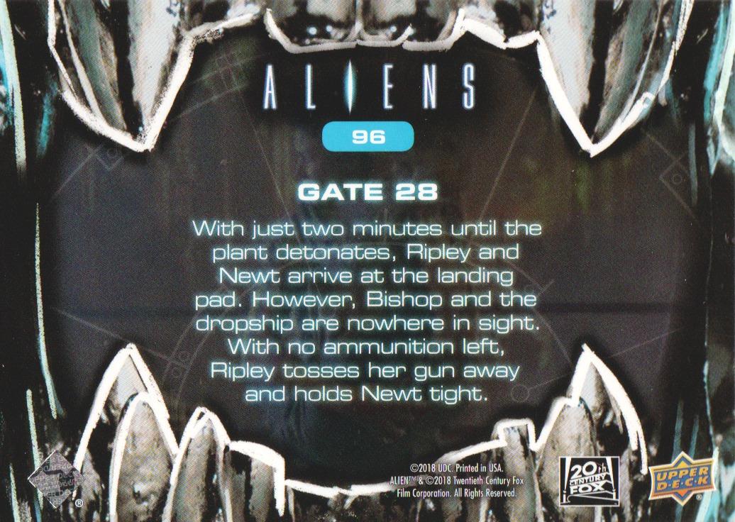 2018 Aliens Alien Blood #96 Gate 28 back image