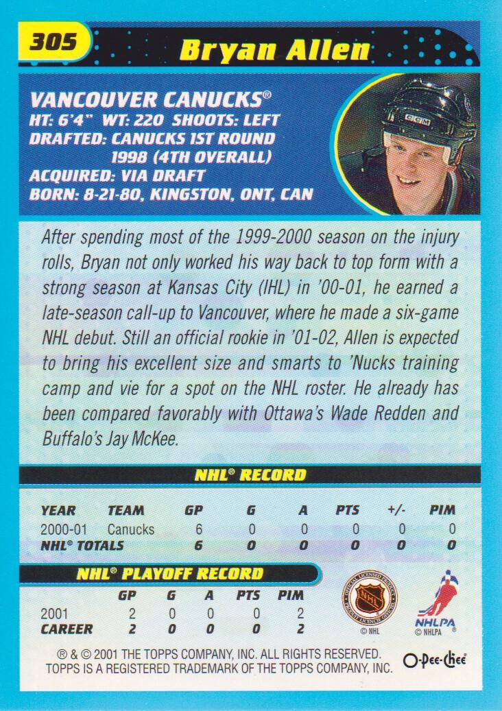 2001-02-O-Pee-Chee-OPC-Hockey-Cards-Pick-From-List thumbnail 151