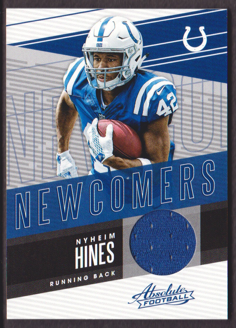 sports shoes 07fce 7796c Details about 2018 Absolute Newcomers Jersey #NC-NI Nyheim Hines  Indianapolis Colts