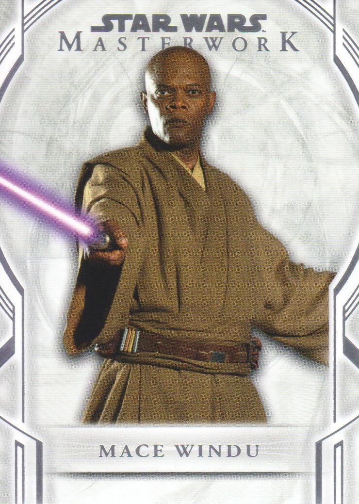 Star Wars Masterwork 2019 Base Card #17 Mace Windu