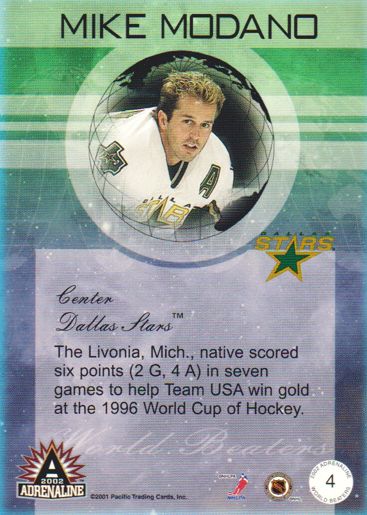 2001-02-Pacific-Adrenaline-World-Beaters-Hockey-Cards-Pick-From-List miniature 3