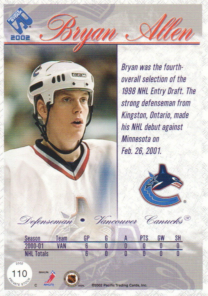 2001-02-Private-Stock-Hockey-Cards-Pick-From-List miniature 183