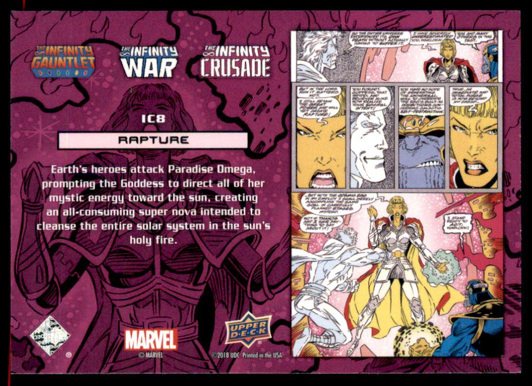 2018 Marvel Avengers Infinity War Infinity Crusade Inserts #IC8