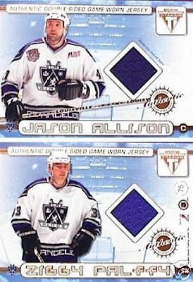 2001-02 Titanium Double-Sided Jerseys #75 Jason Allison/Zigmund Palffy