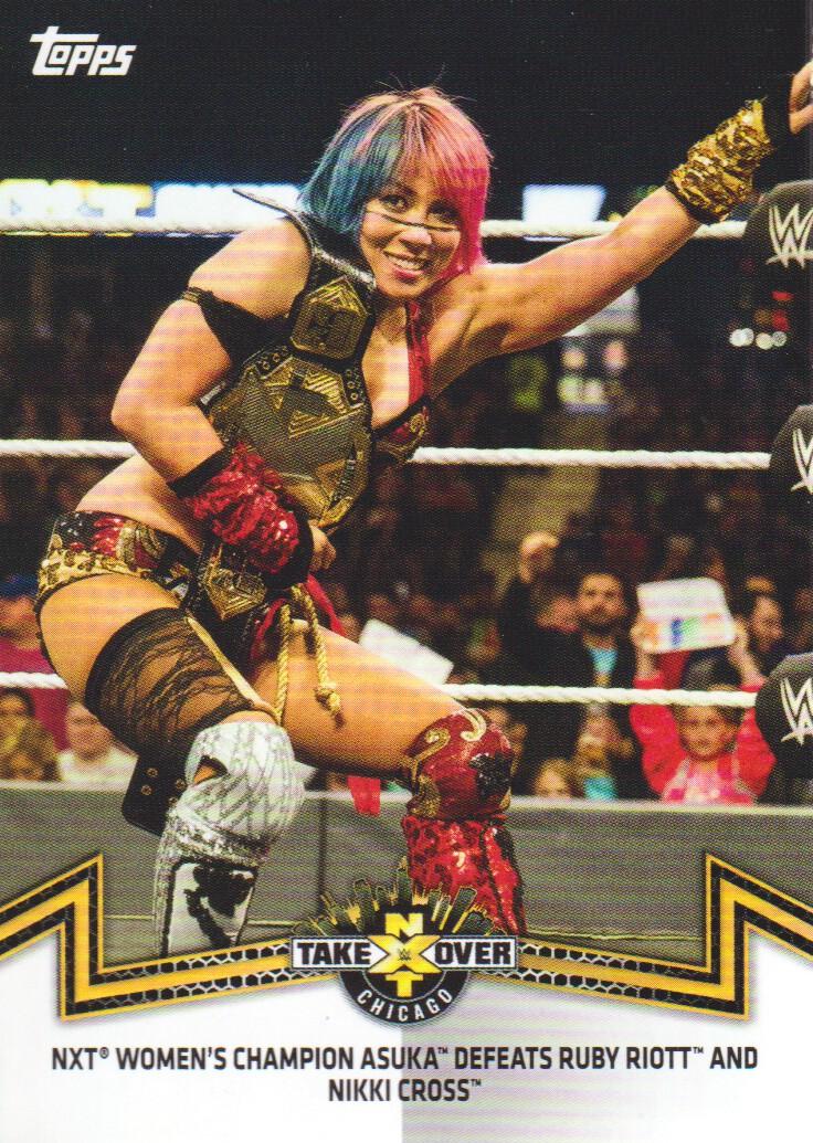 Asuka tarjeta de Topps WWE NXT 2017