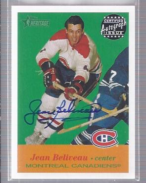 2001-02 Topps Heritage Autographs #AJBE Jean Beliveau