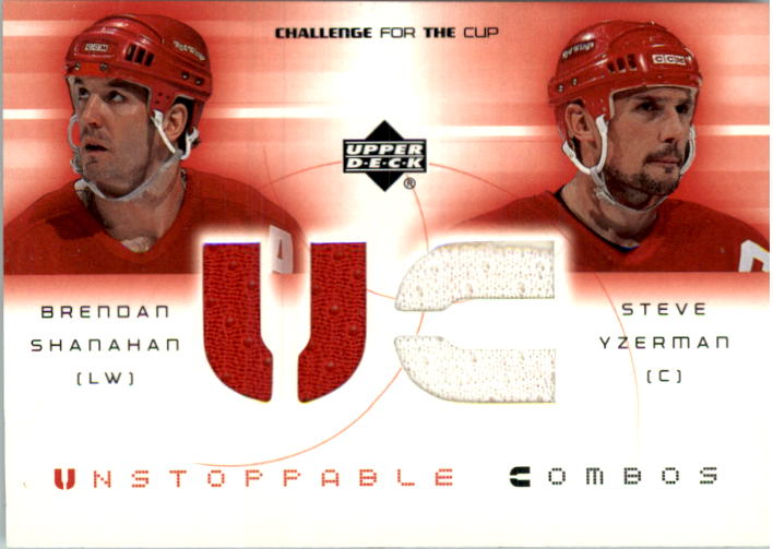 2001-02 UD Challenge for the Cup Jerseys #UCSY Brendan Shanahan/Steve Yzerman