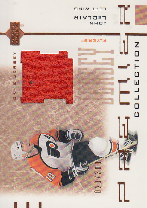2001-02 UD Premier Collection Jerseys #BJL John LeClair B
