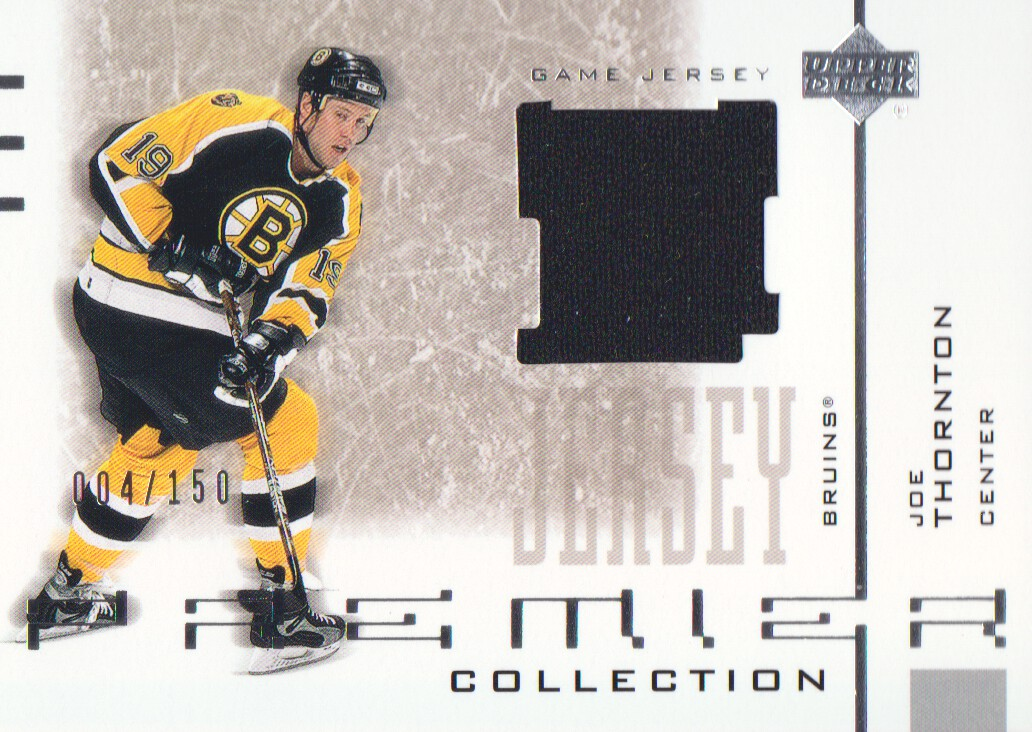 2001-02 UD Premier Collection Jerseys #SJT Joe Thornton S