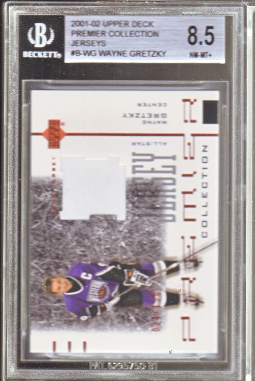 2001-02 UD Premier Collection Jerseys Black #BWG Wayne Gretzky B
