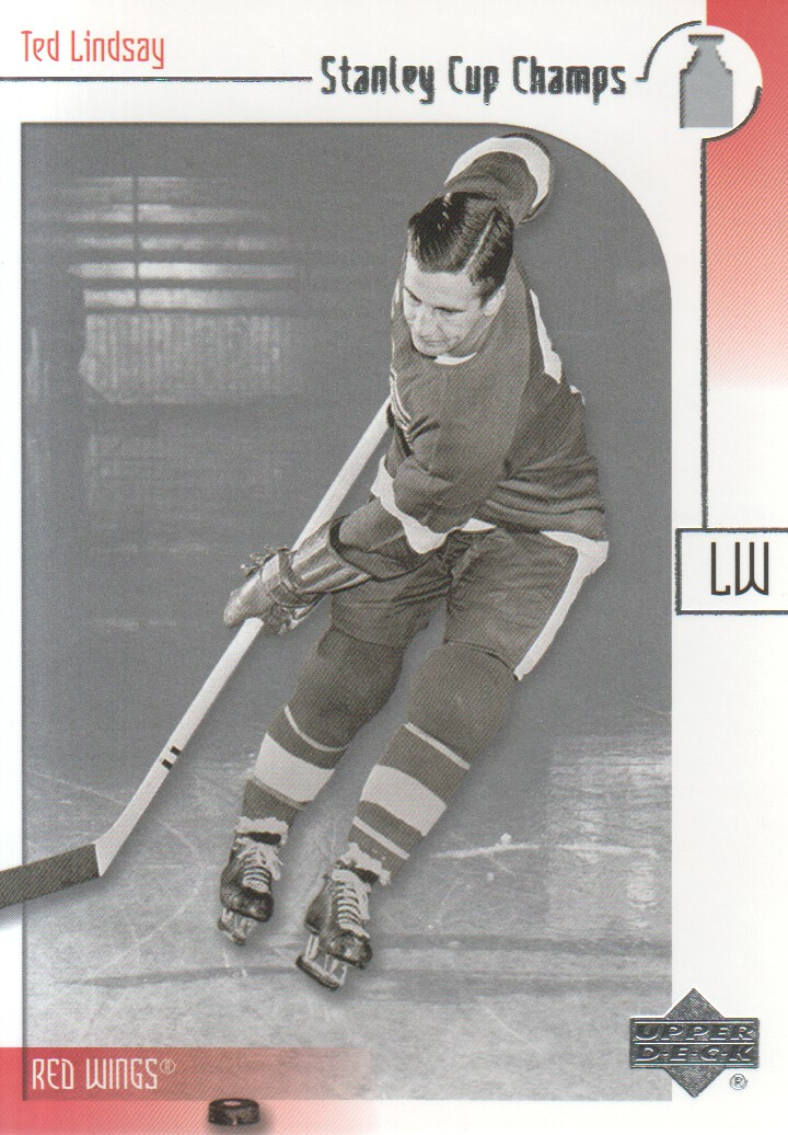 2001-02 UD Stanley Cup Champs #7 Ted Lindsay