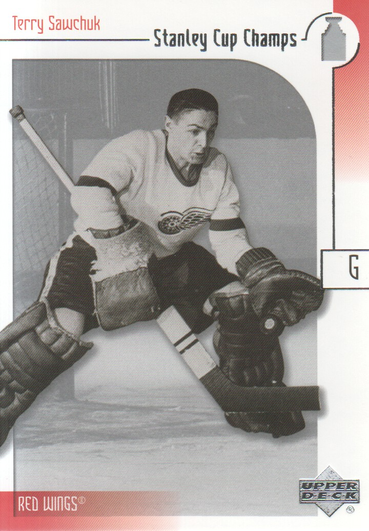 2001-02 UD Stanley Cup Champs #8 Terry Sawchuk