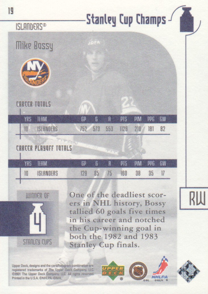 2001-02-UD-Stanley-Cup-Champs-Hockey-Cards-Pick-From-List miniature 7